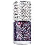 If you love glitter, this Jubilee Limited Edition glitter polish combines a very patriotic red, white (silver actually) and blue.