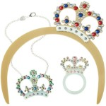 Tatty Devine's Jubilee collection is too cute. Crown necklaces, tiaras, bunting necklaces, and queenly jewellery - perfect for a Queen inspired street party.