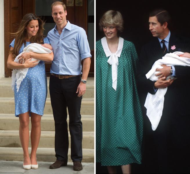 Princess-Diana-Kate-Middleton-hospital-polka-dots